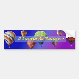 ¡Amo los globos del aire caliente!!!! Pegatina par Pegatina Para Auto