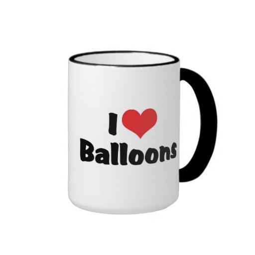 Amo los globos taza de dos colores