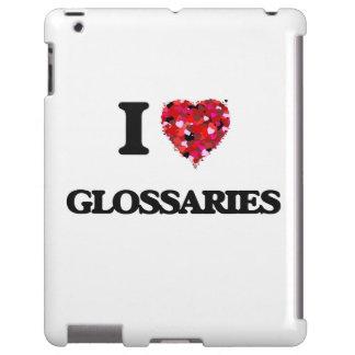 Amo los glosarios funda para iPad