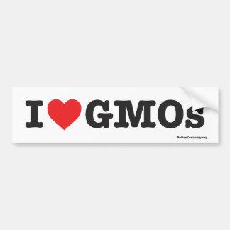 ¡Amo los GMOs! - Pegatina para el parachoques Pegatina Para Auto