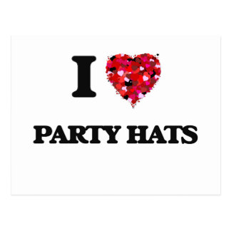 Amo los gorras del fiesta postales