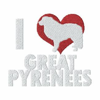 Amo los grandes Pirineos bordé la camiseta larga