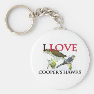 Amo los halcones del tonelero llavero redondo tipo pin