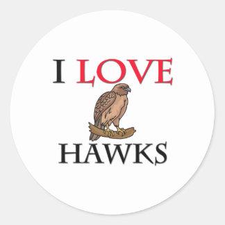 Amo los halcones pegatina