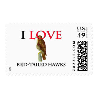 Amo los halcones Rojo-Atados Franqueo
