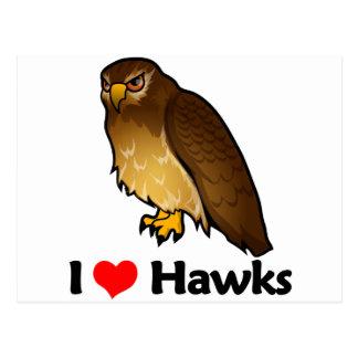 Amo los halcones tarjetas postales