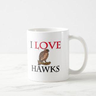 Amo los halcones tazas