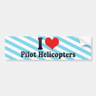 Amo los helicópteros experimentales etiqueta de parachoque