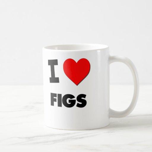 Amo los higos (la comida) tazas de café