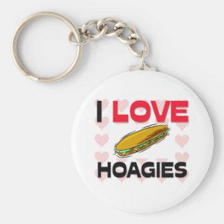 Amo los Hoagies Llavero Personalizado