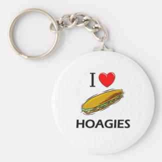 Amo los Hoagies Llaveros Personalizados