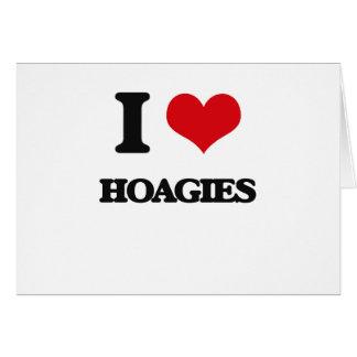 Amo los Hoagies Tarjeta De Felicitación