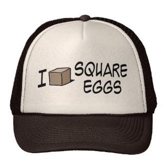 Amo los huevos cuadrados gorros bordados