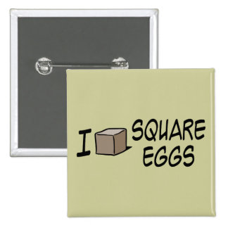 Amo los huevos cuadrados pin