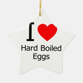 Amo los huevos duros ornamentos de reyes