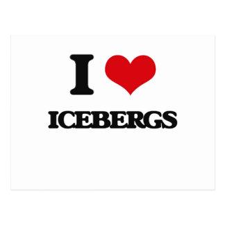 Amo los icebergs postal