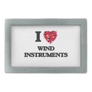 Amo los instrumentoes de viento hebillas de cinturón rectangulares