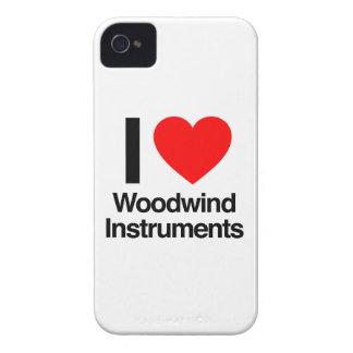 amo los instrumentos de instrumento de viento de iPhone 4 Case-Mate protectores