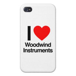 amo los instrumentos de instrumento de viento de m iPhone 4 fundas