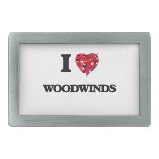 Amo los instrumentos de viento de madera hebillas cinturon rectangulares