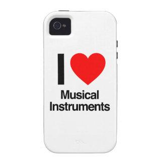 amo los instrumentos musicales vibe iPhone 4 funda