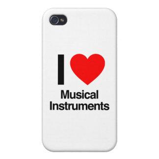 amo los instrumentos musicales iPhone 4 fundas