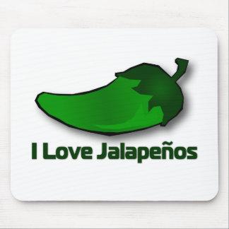 Amo los Jalapenos Alfombrillas De Ratones