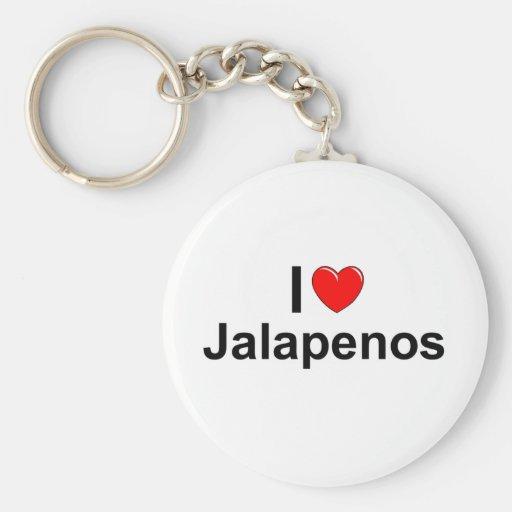 Amo los Jalapenos (del corazón) Llavero