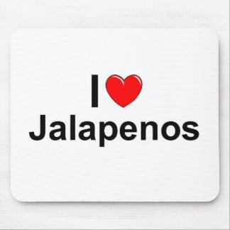 Amo los Jalapenos (del corazón) Tapete De Ratón
