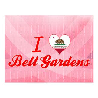 Amo los jardines de Bell, California Tarjeta Postal