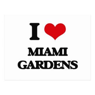 Amo los jardines de Miami Tarjeta Postal