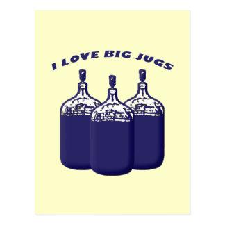 Amo los jarros grandes postales