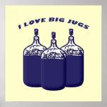 Amo los jarros grandes póster