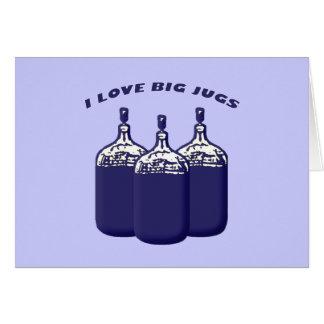 Amo los jarros grandes tarjeta