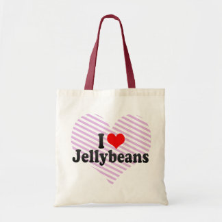 Amo los Jellybeans Bolsas Lienzo