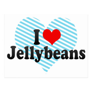 Amo los Jellybeans Tarjetas Postales