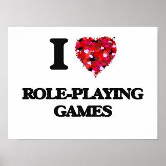 Amo los juego de rol póster