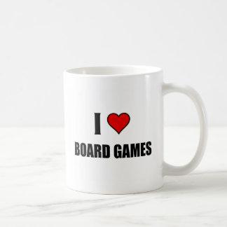 Amo los juegos de mesa taza básica blanca