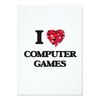 """Amo los juegos de ordenador invitación 5"""" x 7"""""""