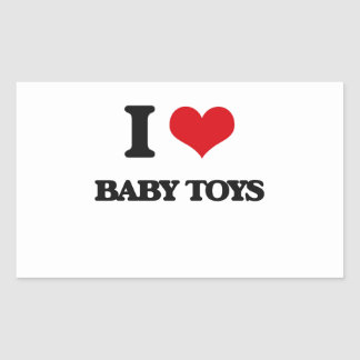 Amo los juguetes del bebé rectangular altavoces