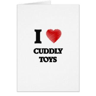 Amo los juguetes mimosos tarjeta de felicitación