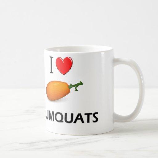 Amo los kumquats taza de café