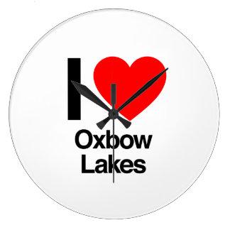 amo los lagos de oxbow reloj redondo grande