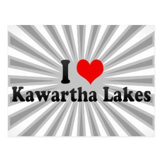 Amo los lagos Kawartha, Canadá Tarjetas Postales