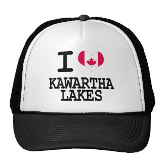 Amo los lagos Kawartha Gorros Bordados