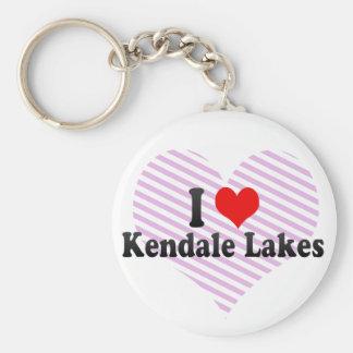 Amo los lagos Kendale, Estados Unidos Llavero Personalizado