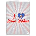 Amo los lagos Lino, Minnesota Felicitacion