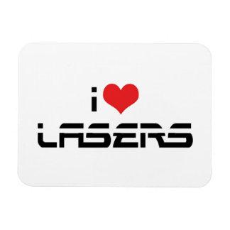 Amo los lasers del corazón - los amantes de la imanes rectangulares