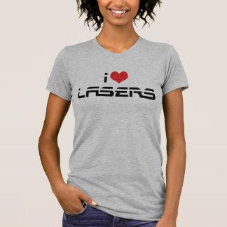 Amo los lasers camisetas