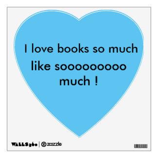 ¡amo los libros como sooooooooo mucho! pegatina de vinilo adhesivo